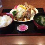 那珂市のおたふく食堂で3種の特製唐揚げ定食が絶品すぎた!ザクザク感がたまらん!